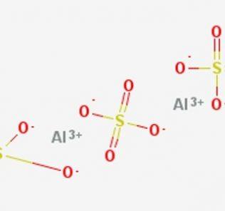 Al2(SO4)3 молярная масса и структурная формула
