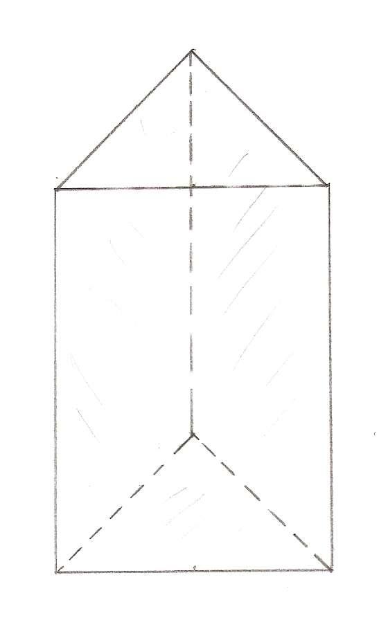 Понятие о треугольной призме. Площадь поверхности и объем фигуры