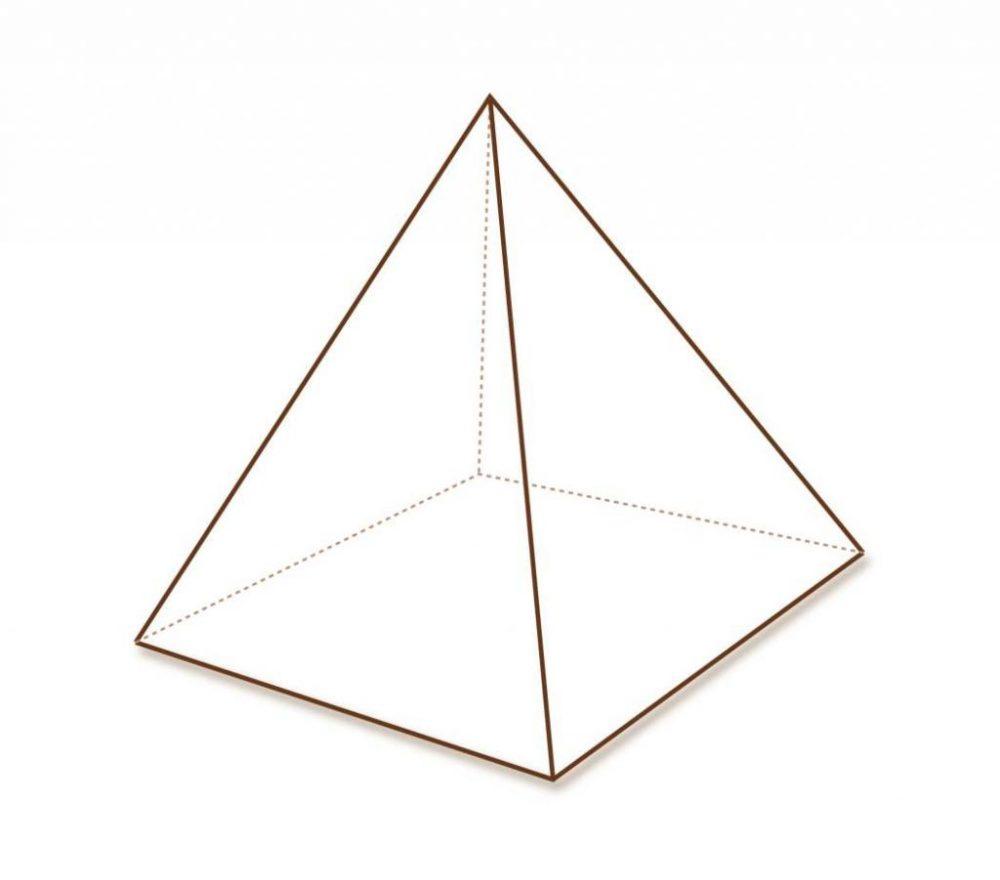Формулы площади поверхности правильной четырехугольной пирамиды. Расчет полной площади пирамиды Хеопса